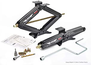 LIBRA Set of 2 5000lbs RV Trailer Stabilizer Leveling Scissor Jacks w/Dual Power Drill..
