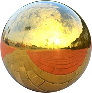 Prettyia Stainless Hollow Gazing Ball Mirror Polished Shiny Sphere Garden Ornament - as described, 225mm