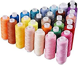 Candora Sewing Machine line Tailoring Household 30 Color 250 Yards Each Polyester Thread Sewing Kit All Purpose Polyester Thread for Hand and Machine