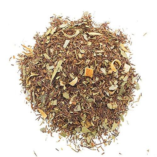 Aromas de Té - Infusión Rooibos Eucalipto y Naranja Estimulante Relajante/Té Rooibos con Naranja y Eucalipto sin Teína, 50 gr