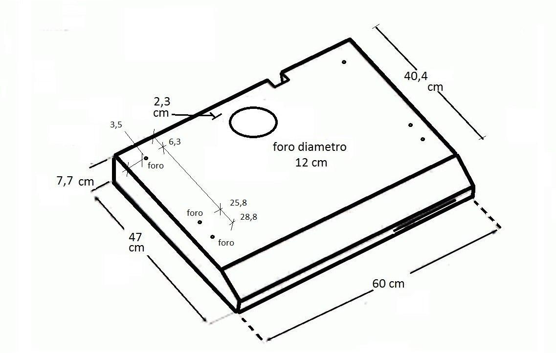 Elica – Campana extractora para la cocina - Color blanco - Medidas 60 cm - Campana extractora modelo Slim Tilly: Amazon.es: Hogar