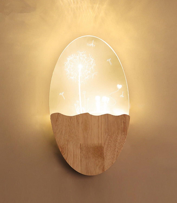 JJZHG Wandleuchte Wandlampe Wasserdicht Wandbeleuchtung Kreatives geführtes Wandlampenschlafzimmer,Lwenzahn beinhaltet  Wandlampe,stoere wandlampen,wandlampen Design,wandlampe led