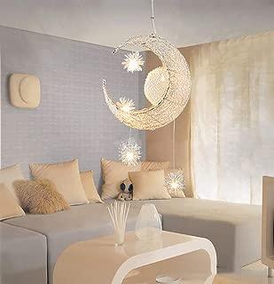 YBCD Habitación para niños Luz LED Semi-incrustada en el Techo de Cromo Hada araña para niños y niñas, Dormitorio Divertido iluminación Decorativa