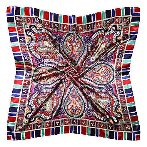Vabovin Pañuelo cuadrado de satén de seda para mujer, 35 pulgadas, para dormir - - 35'' x 35''