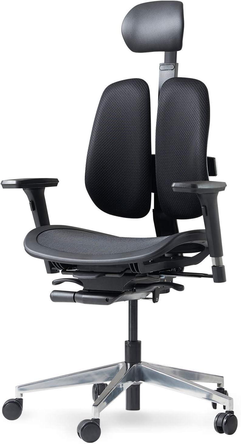 正規店 お気に入り DUOREST ALPHA Breathable Mesh Office Chair Twin Backrests with -