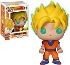 Funko Super Saiyan Goku [Glow-in-Dark] (EE Exclusive): Dragonball Z x POP! Animation Vinyl Figure & 1 POP! Compatible PET Plastic Graphical Protector Bundle [#014 / 05040 - B]