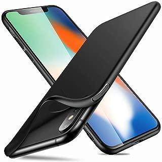 Whew iphone X/XS ケース擦り傷防止 耐衝撃 防指紋汚性に耐える滑り落スマホブラックTPUシリコンカバー
