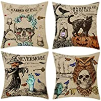 4-Pack Bonsai Tree Halloween Pillow Covers