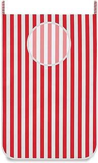 Panier à linge suspendu à rayures rouges blanches porte / mur / placard suspendu grand panier de sac à linge pour organisa...