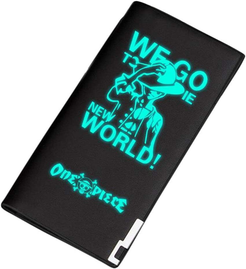 Gumstyle One Piece Anime Luminous Artificial Leather Wallet Billfold Money Clip Bifold Card Holder 6