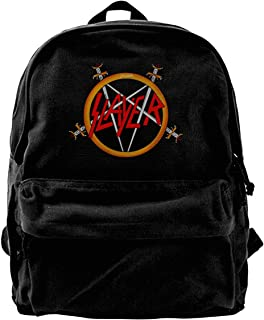 Mochila de lona MaNeg Slayer Rock Band Mochila de gimnasio senderismo portátil bolsa de hombro para hombres y mujeres