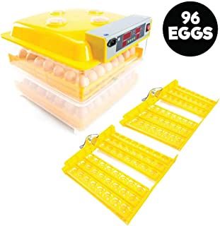 Automatic 96 Egg Incubator + Accessories Hatching Eggs Chicken Quail Duck Goose