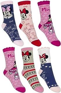 6 pares de calcetines para niña de Minnie