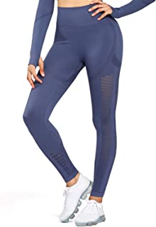 Aoxjox Yoga Pants Women High Waisted Tummy Control Gym Sport Ombre Seamless Leggings
