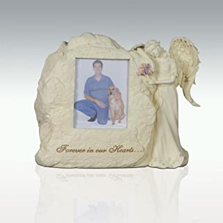 AngelStar 11-Inch by 9-Inch by 4-1/2-Inch Pet Urn with Frame, Forever in Our Hearts
