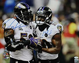 Ray Lewis & Ed Reed Autographed Baltimore Ravens 16x20 Photo 15260 PF - JSA Certified - Autographed NFL Photos
