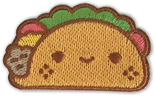 100% Soft Taco Peel and Stick Adhesive Back Embroidered Sew On Patch