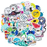 Roberly Cute VSCO Stickers for Water Bottles, 100 Pack Trendy Waterproof Water Bottle Stickers Laptop Stickers for Teen Girls Kids Computer Guitar Skateboards Skate Stickers Popular Element