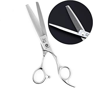 "6"" Professional Hair Cutting Scissors Japan 440C Steel Thinning Scissor for Men/Women Cutting for Salon/Barber/Home (V-Sha..."