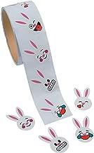 Fun Express - Emoji Face Bunny Stickers for Easter - Stationery - Stickers - Stickers - Roll - Easter - 100 Pieces