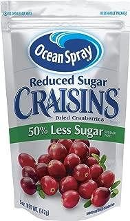 Ocean Spray Craisins Dried Cranberries, Reduced Sugar, 5 Ounce (Pack of 12)