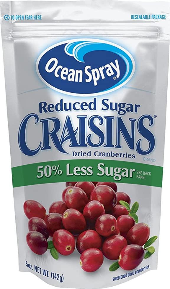 Ocean Spray Craisins Dried Cranberries, Reduced Sugar, 5 Ounce (Pack of 12)