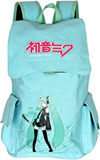 Innturt Hatsune Miku Canvas Backpack Rucksack Bag School Backpack Blue