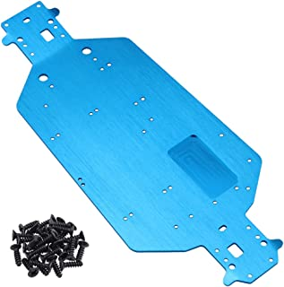 Hobbypark Metal Aluminum Chassis Plate 04001 for Redcat Volcano EPX Exceed Infinitive Sun Fire Upgrade Parts RC Electric 1/10 Monster Truck Buggy HSP Brontosaurus XSTR