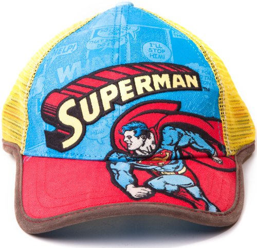 Casquette Original Superman DC Comics Bonnet Style Casquette Trucker Ajustable