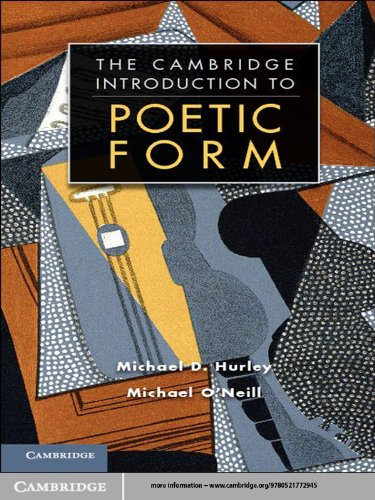 The Cambridge Introduction to Poetic Form (Cambridge Introductions to Literature)