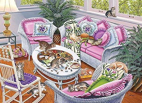 más vendido Ten Tabbies, A 1000 Piece Jigsaw Puzzle by by by SunsOut by SunsOut  ventas de salida