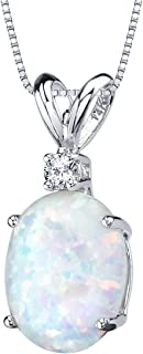 Best white opal necklace gold Reviews
