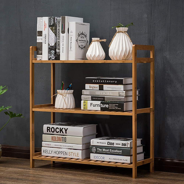 Bamboo 5-Tier Bookshelf, Shelf Display Rack Open Shelf Narrow Library Display Stand Tall Multipurpose for Home or Office -C 68x25x71cm(27x10x28inch)