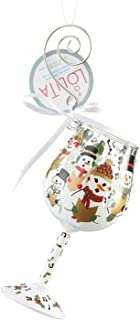 Lolita Mini Wine Glass Ornament with Hanging Hook and Gift Box (Singing in The Snow, 6002992)