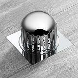 PLJHWW Deodorante per pavimento a prova di insetti e anti-ritorno per balcone in rame cromato scarico pavimento pavimento