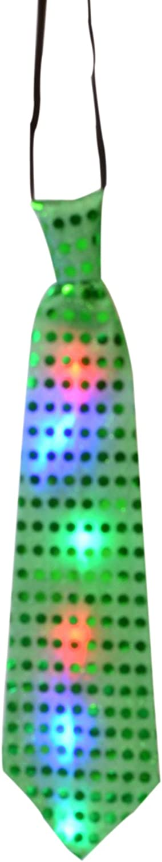 LED Light Excellent Up Sequin High order Neckties