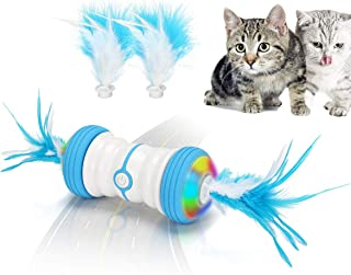 Atpot Cat Toys for Indoor Cats, Interactive Cat Toy,Fast/Slow Model,7 in 1 Smart Automatic Robotic Cat Toy with USB Rechar...
