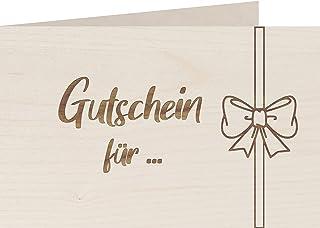 myZirbe Träkort – kupong för – 100 % handgjorda i Österrike – vykort, presentkort, gratulationskort, kort inbjudning, trät...