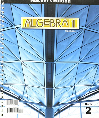 Price comparison product image Algebra 1 Teacher Ed Grd 9