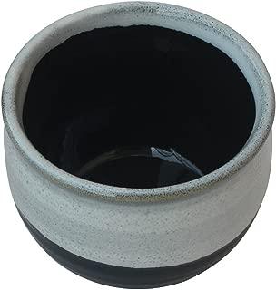 DEAL OF THE DAY - abhandicrafts 3x4 Inch Handmade Blue Black Pottery Ceramic Shaving Bowl for Men-Shaving Soap Cream Bowl For Shave/Portable Shaving Bowl Mug-Beautiful Gift for Dad,Grandpa