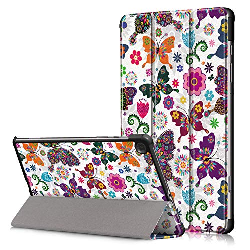 Gylint Samsung Galaxy Tab S6 Lite Case, Smart Case Trifold Stand Slim Lightweight Case Cover with Auto Sleep/Wake for Samsung Galaxy Tab S6 Lite 10.4 Inches SM-P610 (Wi-Fi); SM-P615 (LTE) Butterfly