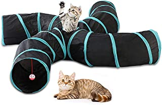 Docooler Cat Tunnel 4 Way Pet Play Tunnel Collapsible Tunnel Toy for Cats Dogs Rabbits Pets