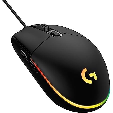 Logicool G ゲーミングマウス 有線 G203 LIGHTSYNC RGB 6個プログラムボタン 85g軽量 G203-BK 国内正規品