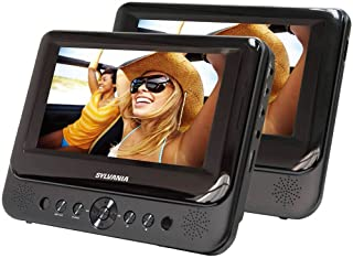 Sylvania SDVD7750 Dual 7-Inch Portable LCD DVD Player - Black