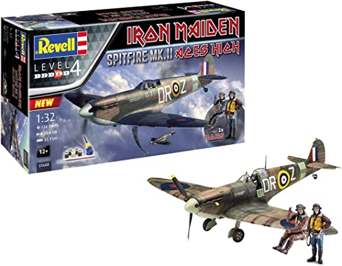Revell 05688Coffret Cadeau Maquette d'avion à Constrire Iron Maiden Spitfire MK. V, Échelle 1/32