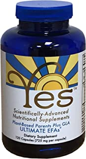 Yes Parent Essential Oils ULTIMATE EFAs 120 Capsules, Based On The Peskin Protocol, Plant Based Organic Ingredients, Omega...