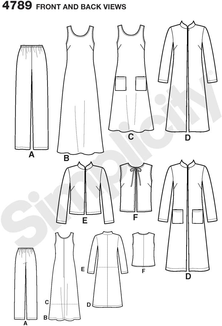 Le Pantalon Set sewing pattern Feuilles Pour Tailles 4-28 par simplement à coudre