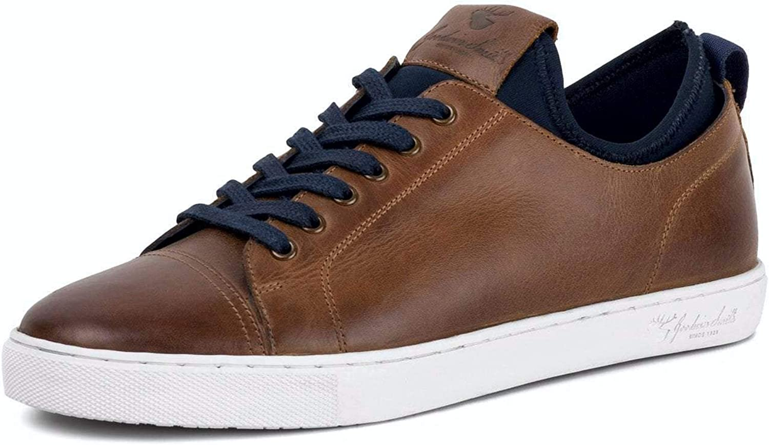 Goodwin Smith Robson Tan Leather Trainers