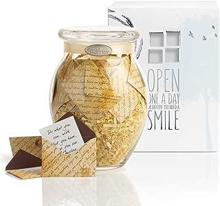 KindNotes Glass Keepsake Gift Jar with Sympathy Messages - Inspirational Scripts