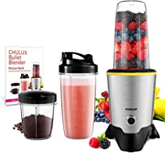 CHULUX Smoothie Bullet Blender Maker with Recipe Book, 1000W High Speed Coffee Grinder with Blending & Grinding Blades , L...